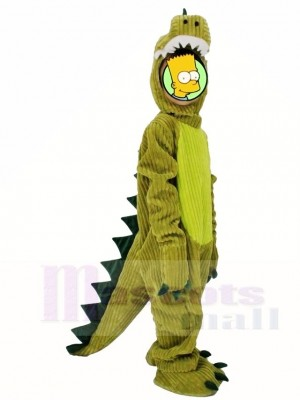 For Children/ Kids Green Dinosaur Pajamas Pyjama Mascot Party Halloween Christmas Xmas Costumes