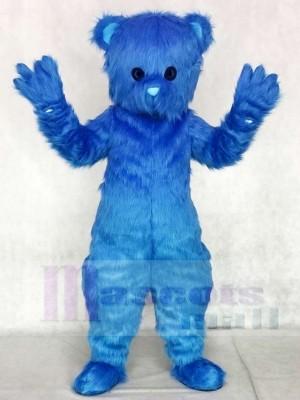 Blue Fluffy Bear Mascot Costumes Animal