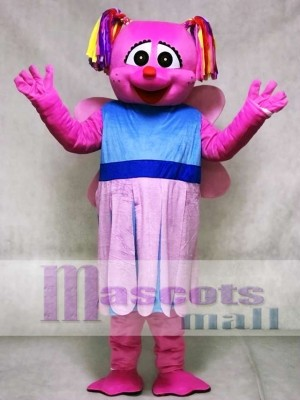 Pink Abby Cadabby Mascot Costume Cartoon Anime