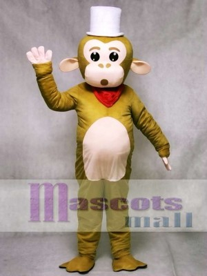White Cap Monkey Mascot Costume Animal