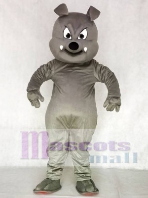 Cute Gray Buster Bulldog Mascot Costume Animal