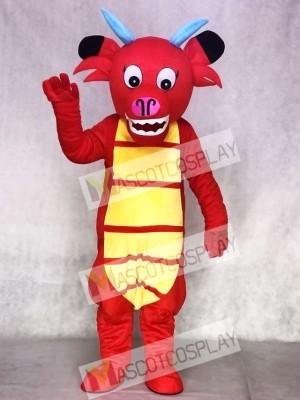 Red Dragon Mushu Dinosaur Mascot Costume Animal