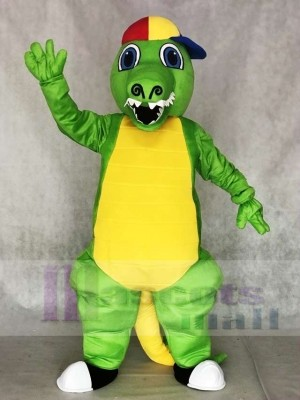 Green Crocodile Mascot Costumes Alligator for Adult