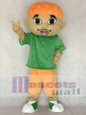 Cartoon DJ Boy Singer Artist Mascot Costume People
