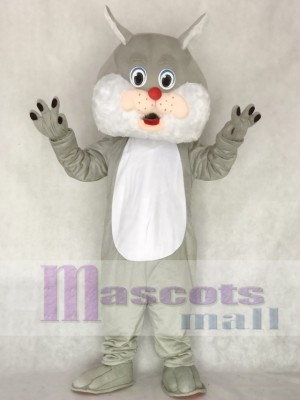 Grey Wirey Wildcat Mascot Costume Animal