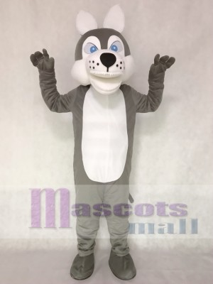 Grey Wolf Mascot Adult Costume Animal