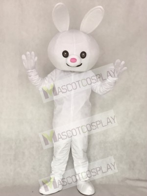 Pink Nose Easter Bunny Rabbit Adult Mascot Costume Animal