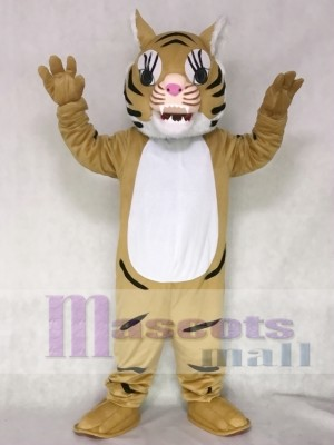 Brown Big Cat Tiger Mascot Costume Animal