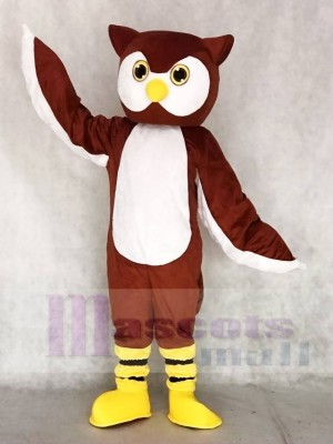 Brown Ollie Owl Mascot Costumes Animal