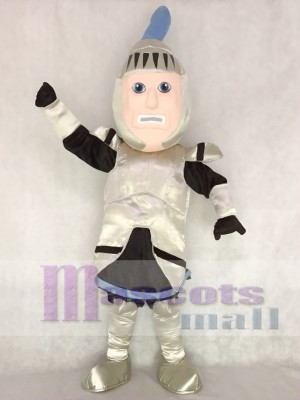 Silver Armour Knight College of St Rose Mascot Costume People