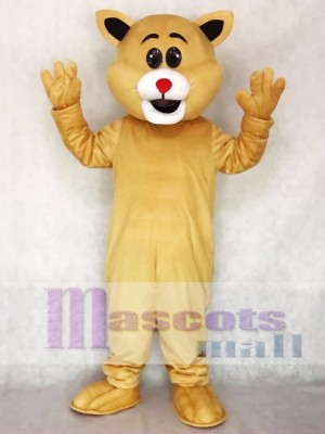 Cute Red Nose Big Ear Cat Mascot Costume Animal