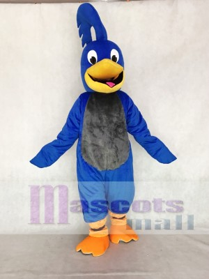 Blue Roadrunner with Gray Belly Mascot Costume