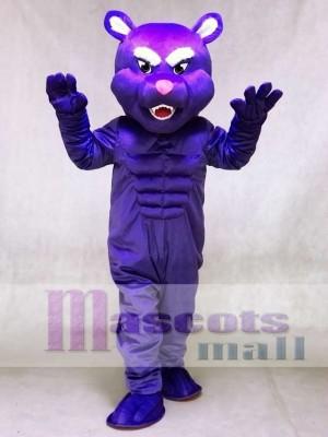 Purple Muscle Panther Mascot Costumes Animal