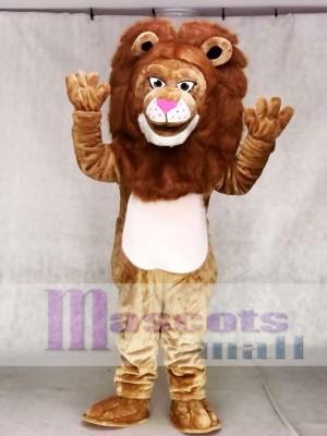 Fierce Brown Wally Lion Mascot Costume Animal