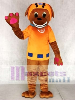 Orange Suit Labrador Pup Water Rescuer Paw Patrol Zuma Dog Mascot Costume