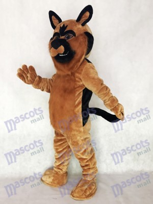 Long Hair Brown German Shepard Dog Mascot Costume Animal