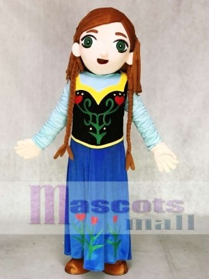 Frozen Princess Anna Mascot Costumes without Cape Cartoon People