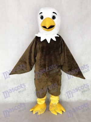 Cute White Head Friendly Brown Eagle Mascot Costume Animal