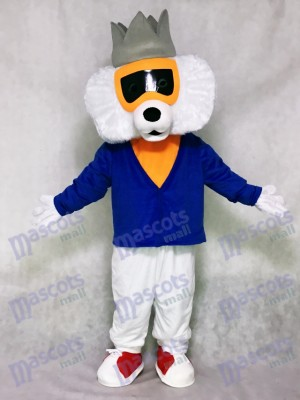 Cute Alley Cat with Blue Shirt Mascot Costume Animal