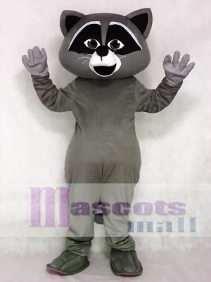Cute Grey Wild Raccoon Mascot Costume Animal