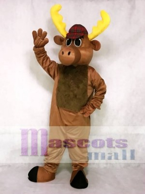 Cute Hunter Moose Mascot Costume Animal
