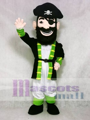 Custom Color Redbeard Pirate Green Cuffs Mascot Costume