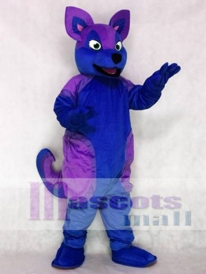 Blue and Purple Husky Dog Fursuit Mascot Costume Animal