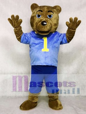 UCLA Dark Brown Bear Mascot Costume with Vest and Shorts