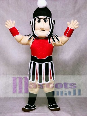Red and Black Spartan Trojan Knight Sparty Mascot Costume People