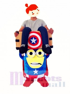 Piggyback Carry Me Ride on Caption America Despicable Me Minions Mascot Costume