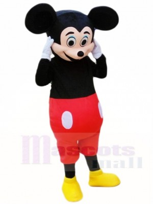 Mickey Mouse in Red Shorts Mascot Costumes Cartoon