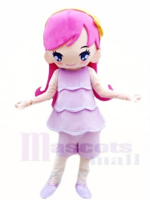 Pink Princess Mascot Costumes Cartoon