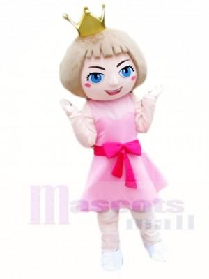 Pink Dress Princess Mascot Costumes Cartoon