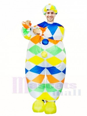 Clown Joker Inflatable Halloween Blow Up Costumes for Adults