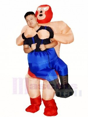 Wrestler Wrestling Inflatable Halloween Blow Up Costumes for Adults