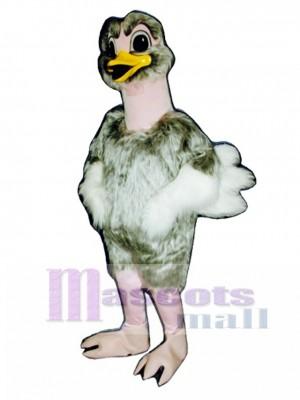 Cute Realistic Ostrich Mascot Costume Bird