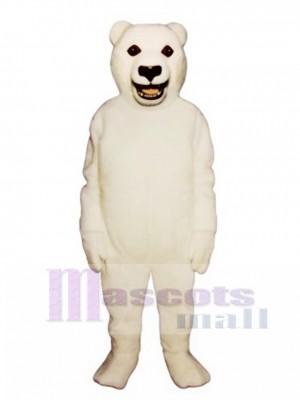 Cute Snarling Polar Bear Mascot Costume Animal