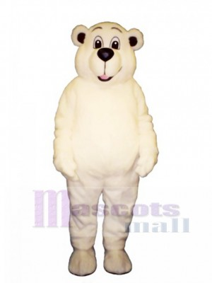 Johnnie Polar Bear Mascot Costume Animal