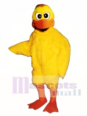 Cute Dumb Duck Mascot Costume Poultry