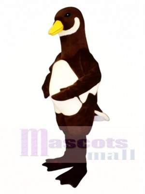 Cute White Belly Goose Mascot Costume Poultry