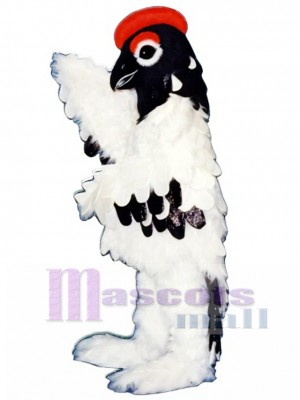 Cute Elegant Snow Bird Mascot Costume Bird