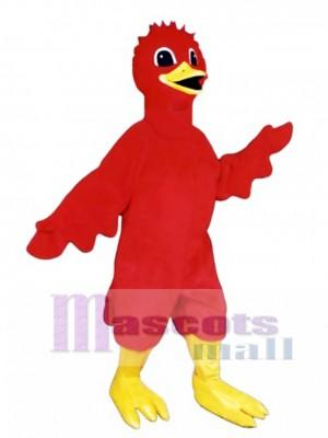Cute Scarlet Bird Mascot Costume Bird