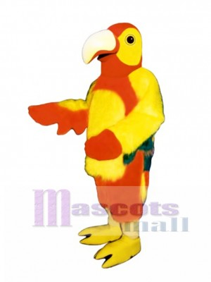 Cute Red Parrot Mascot Costume Bird