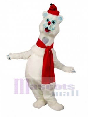 Polar Bear Mascot Costume Animal