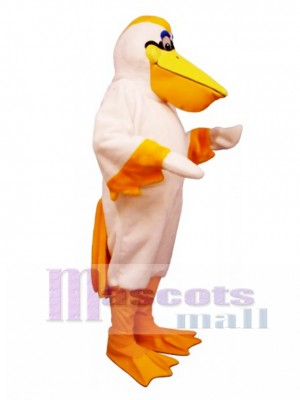 Cute Peter Pelican Mascot Costume Bird