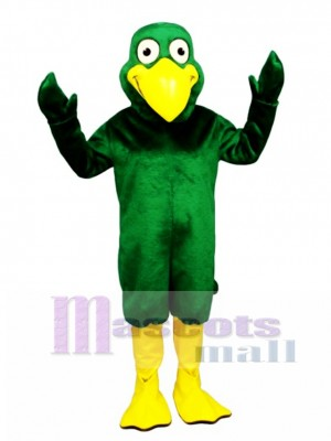 Cute Greenie Bird Mascot Costume Bird