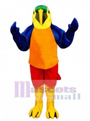 Cute Tropical Parrot Mascot Costume Bird