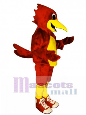 Cute Road Runner with Shoes Mascot Costume Bird