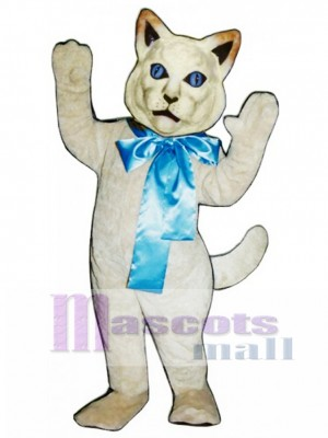 Cute Cat with Bow Mascot Costume Animal