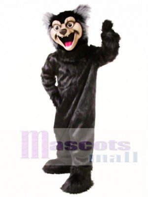 Cute Black Wolf Mascot Costume Animal